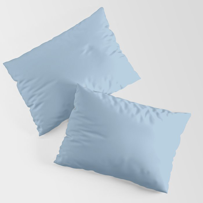 Pastel Blue Solid Color Dutch Boy 2021 Color of the Year Earth's Harmony Pillow Sham