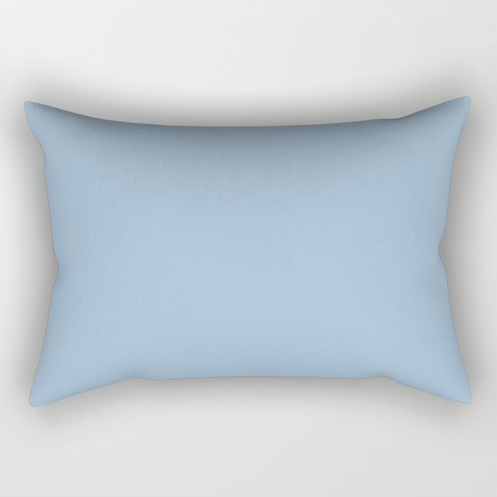 Pastel Blue Solid Color Dutch Boy 2021 Color of the Year Earth's Harmony Rectangular Pillow