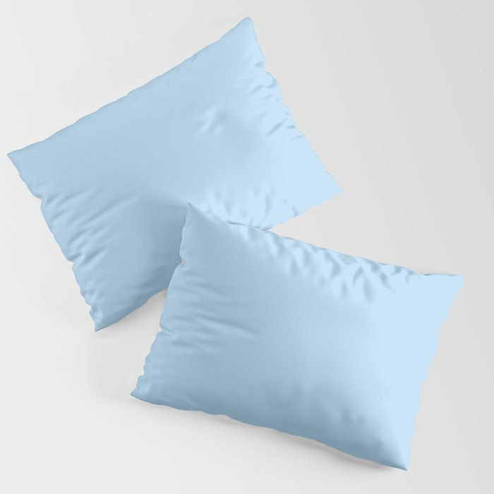 Pastel Sky Blue Solid Color Pairs to 2021 Color of the Year Wild Blue Yonder by Dunn and Edwards Pillow Sham