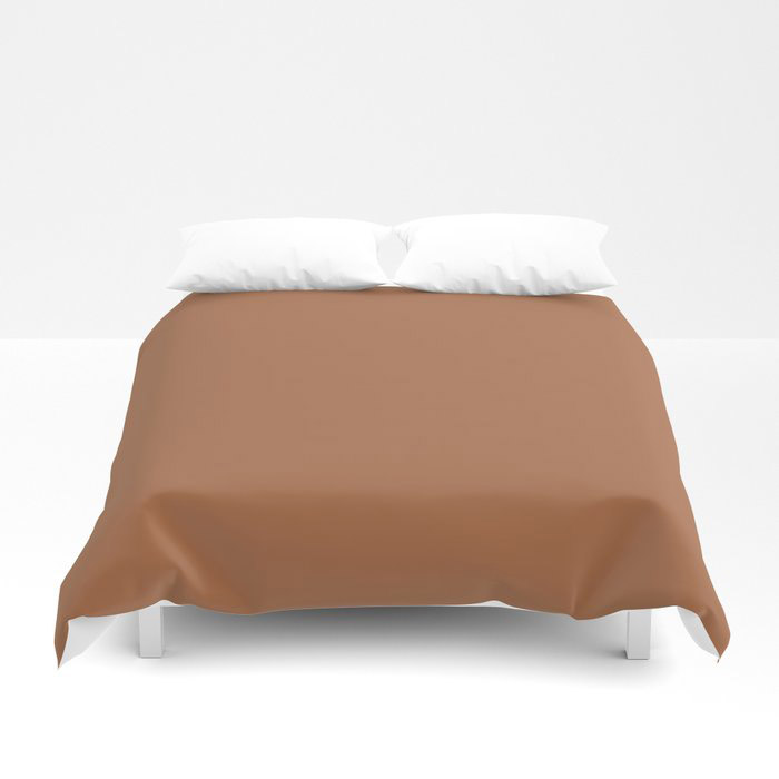 Rusty Mid-tone Brown Solid Color Pairs Behr's 2021 Trending Color Maple Glaze PPU3-16 Duvet Cover