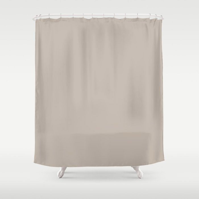 Soft Beige Brown Solid Color Pairs To Valspars 2021 Color of the Year Gallery Grey 2006-10B Shower Curtain