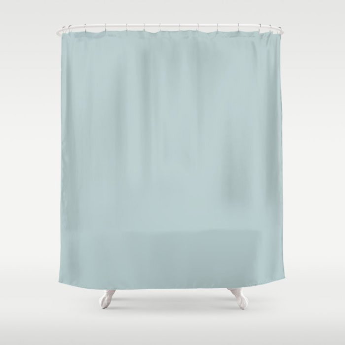 Soft Pastel Blue Solid Color Pairs To Behr's 2021 Trending Color Dayflower MQ3-54 Shower Curtain
