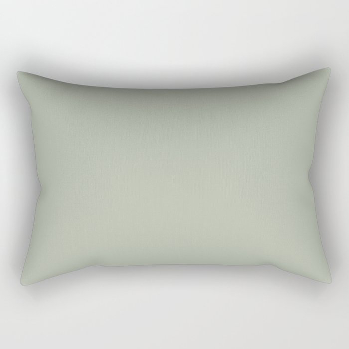 Soft Pastel Sage Green Gray Solid Color Pairs To Behr's 2021 Trending Color Jojoba N390-3 Rectangular Pillow