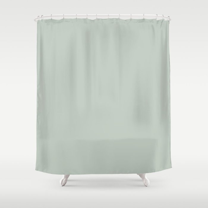 Spring Grass Green Solid Color Pairs To Valspars 2021 Color of the Year Garden Flower 5004-3B Shower Curtain