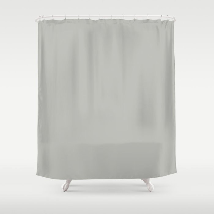 Stardust Gray Solid Color Pairs To Valspars 2021 Color of the Year Granite Dust 5006-1C Shower Curtain