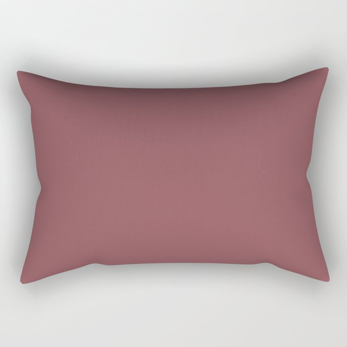 Succulent Red Wine Solid Color Pairs HGTV 2021 Color Of The Year Passionate HGSW2032 Rectangular Pillow