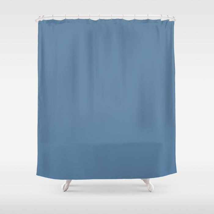 Summer Skies Blue Solid Color Pairs Farrow and Ball' s 2021 Color of the Year Ultramarine Blue W29 Shower Curtain
