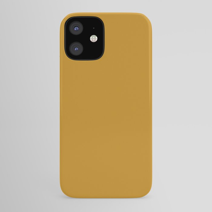 Best Seller Golden Mustard Solid Color Pairs w/ Sherwin Williams 2020 Trending Hue Auric Gold SW6692 iPhone Case