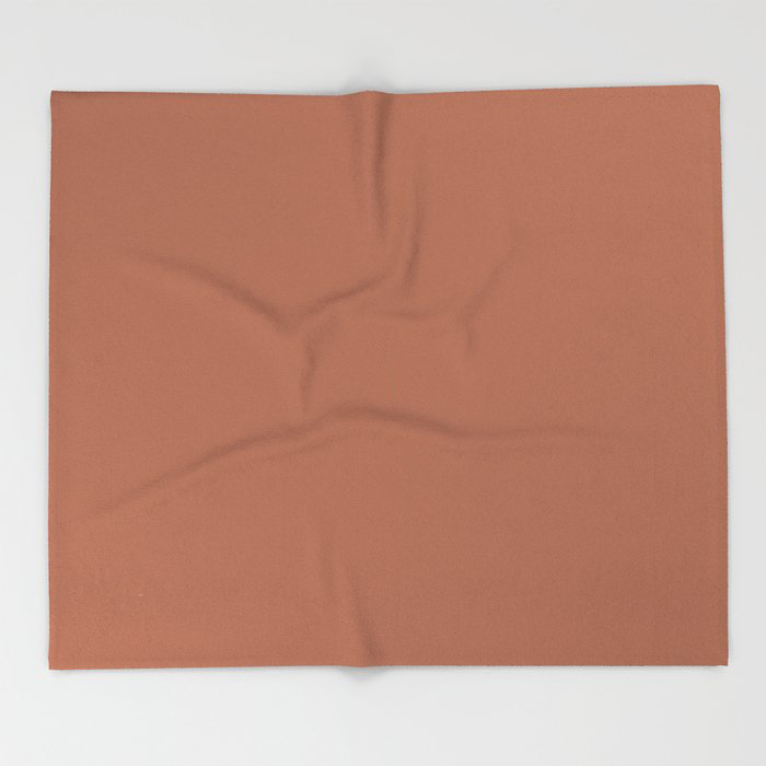Brown Best Seller Sherwin Williams Color of the Year 2019 Cavern Clay SW 7701 Solid Color Throw Blanket