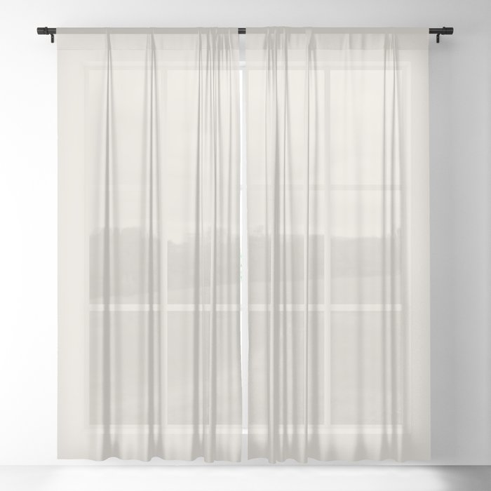 Best Seller Sherwin Williams Colors of 2019 Porcelain (Off White Cream Ivory) SW 0053 Solid Color Sheer Curtain