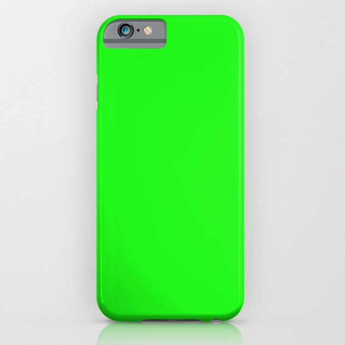 From The Crayon Box – Electric Lime - Bright Green - Neon Green Solid Color iPhone Case