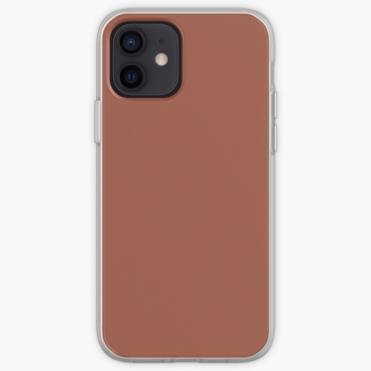 Red Clay Brown Solid Color Behr's 2021 Trending Color Kalahari Sunset MQ1-25 Single Shade - Hue - All Colour iPhone Case & Cover