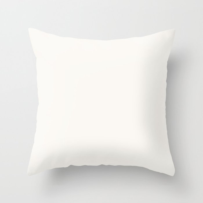 Best Seller Creamy Off White Solid Color Pairs with Farrow and Ball All White 2005 Throw Pillow