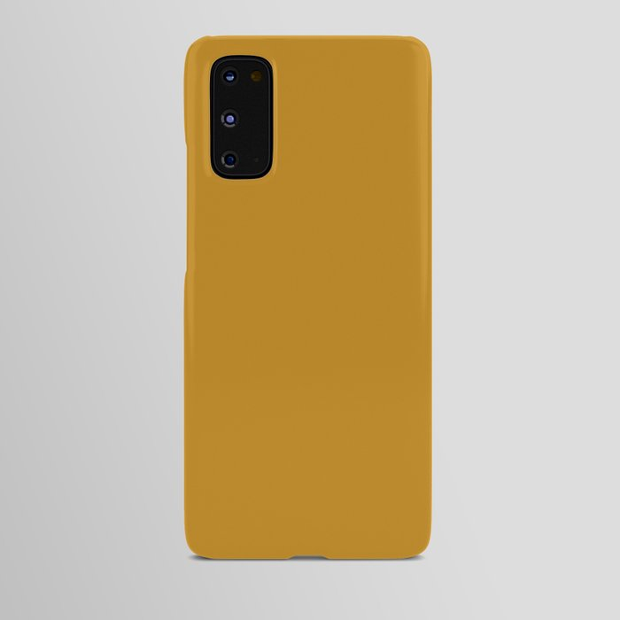 Best Seller Golden Mustard Solid Color Pairs w Sherwin Williams 2020 Trending Hue Auric Gold SW6692 Android Case