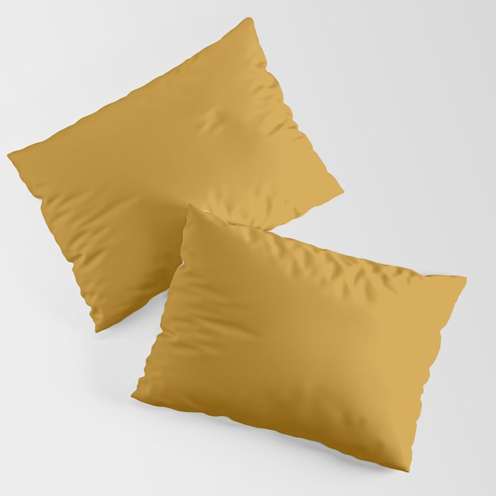 Best Seller Golden Mustard Solid Color Pairs w/ Sherwin Williams 2020 Trending Hue Auric Gold SW6692 Pillow Sham