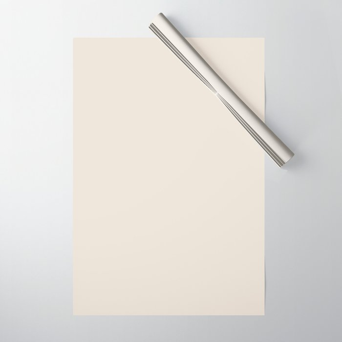 Best Seller Sherwin Williams Colors of 2019 Porcelain (Off White Cream Ivory) SW 0053 Solid Color Wrapping Paper