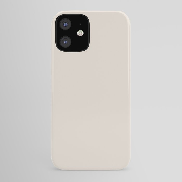 Best Seller Sherwin Williams Colors of 2019 Porcelain (Off White Cream Ivory) SW 0053 Solid Color iPhone Case