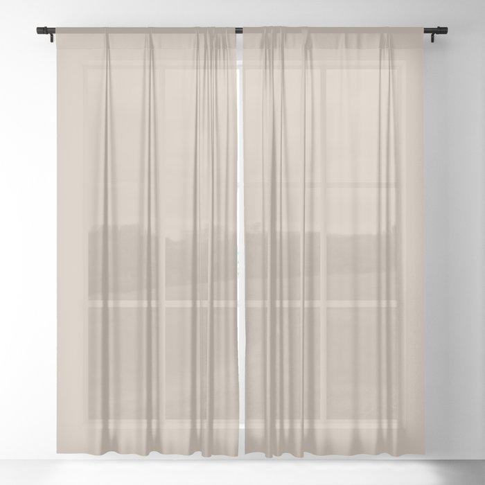 Best Seller Sherwin Williams Trending Colors of 2019 Dhurrie Beige SW 7524 Solid Color - Hue - Shade Sheer Curtain