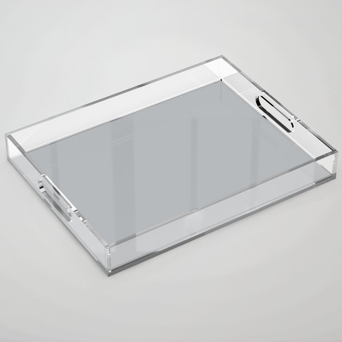 Best Seller Ultra Pale Grey Solid Color Parable to Jolie Paints French Grey - Shade - Hue - Colour Acrylic Tray