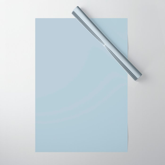 Dark Powder Blue Pairs With Pantone's 2020 Forecast Trending Color Baby Blue 13-4308 TCX Wrapping Paper