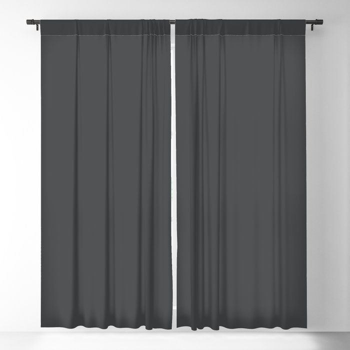 Dunn & Edwards 2019 Curated Colors Dark Engine (Dark Gray / Charcoal Gray) DE6350 Solid Color Blackout Curtain