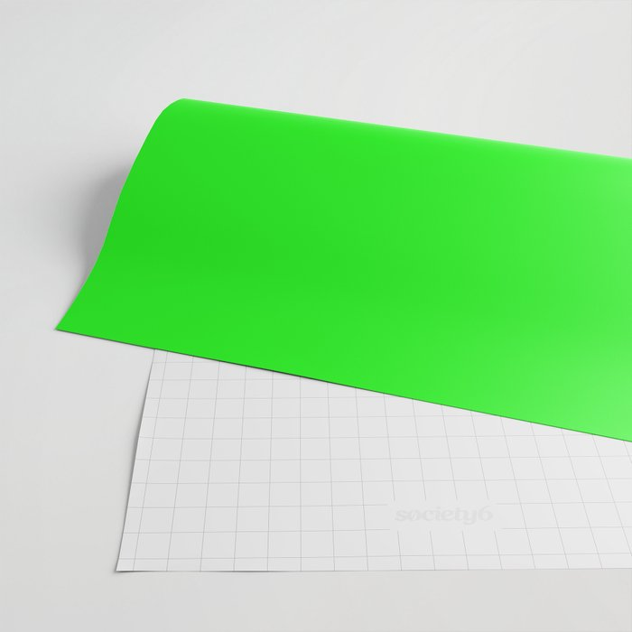 From The Crayon Box – Electric Lime - Bright Green - Neon Green Solid Color Wrapping Paper