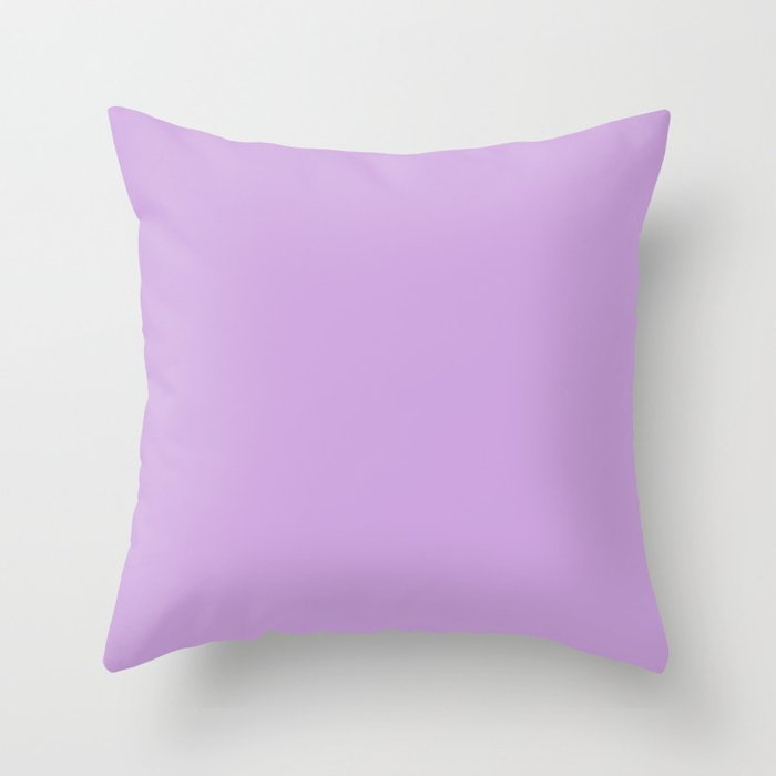 From The Crayon Box – Wisteria Purple - Pastel Purple Solid Color Throw Pillow