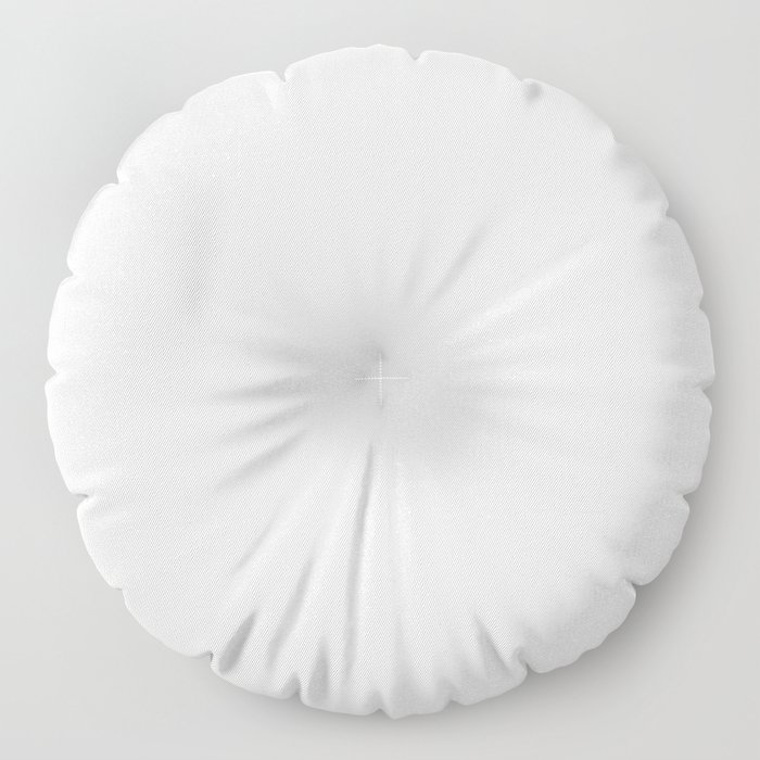Off-White - Linen - Ivory Solid Color Parable to Pantone Cannoli Cream Floor Pillow