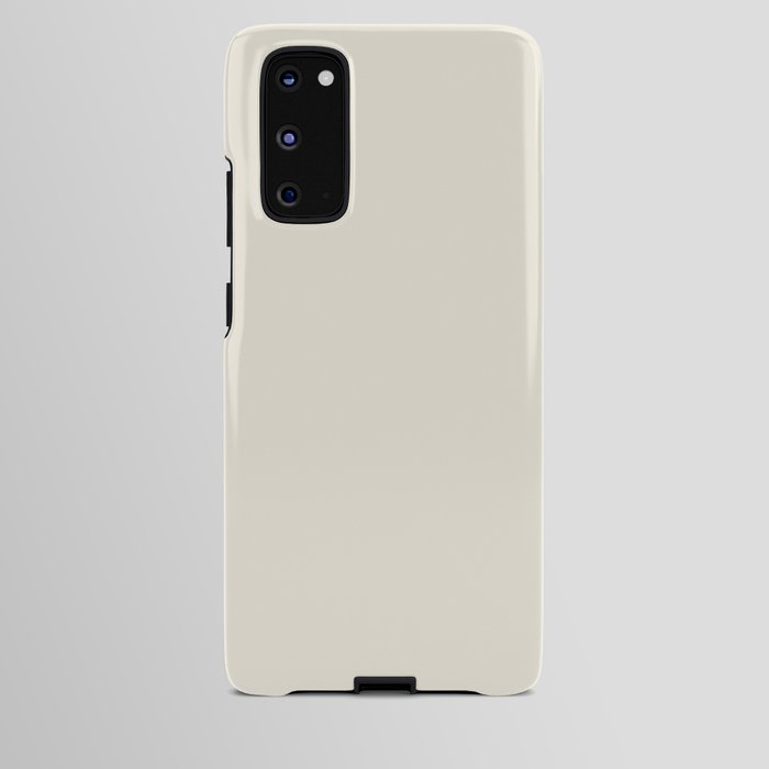 Off-White - Rice Paper - Warm Cream Ultra Pale Yellow Solid Color Parable to Behr Papier Blanc HDC-N Android Case