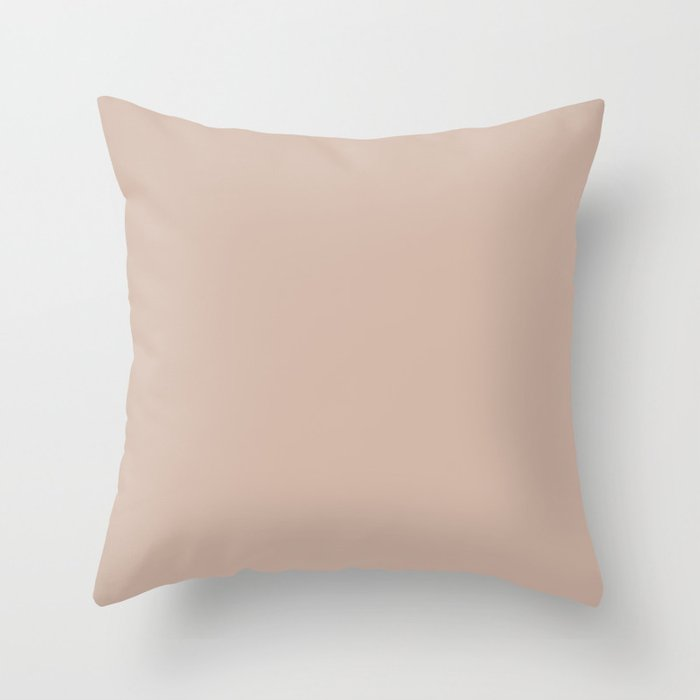 Pale Rose Pink Solid Color Pairs Sherwin Williams Heart 2020 Forecast Color Likeable Sand SW 6058 Throw Pillow