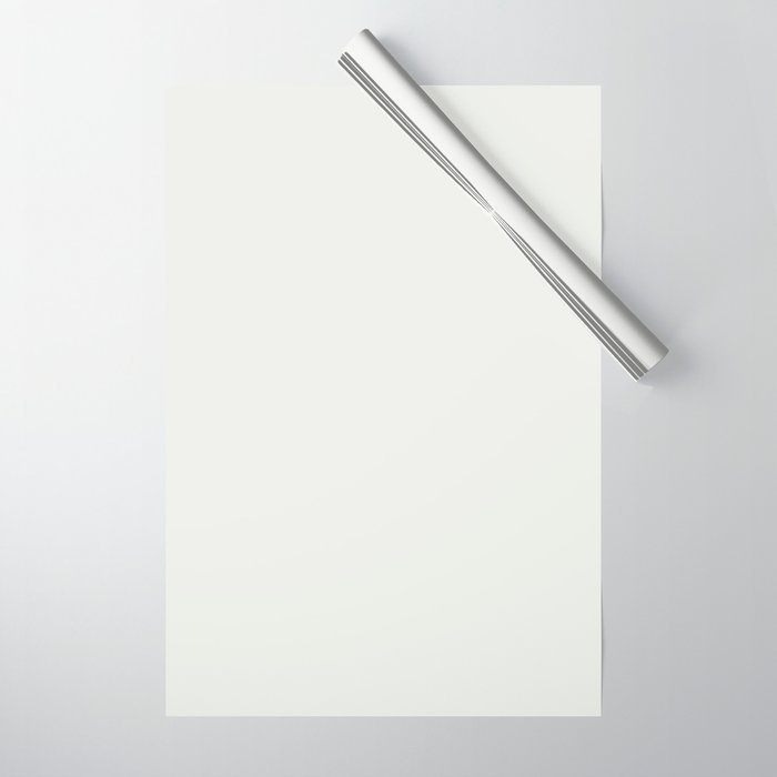 Sherwin Williams Trending Colors of 2019 Extra White SW 7006 Solid Color Wrapping Paper