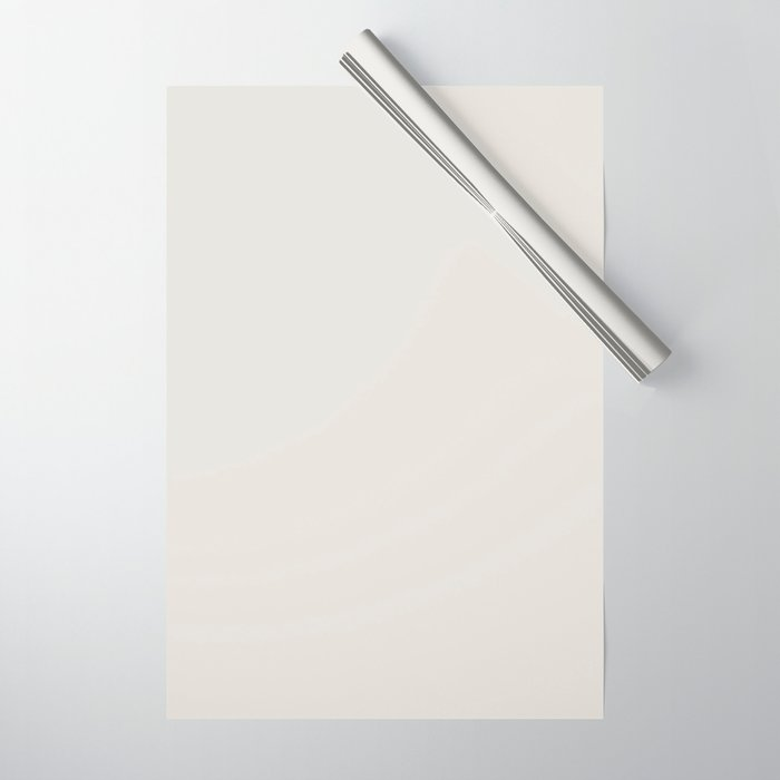 Sherwin Williams Trending Colors of 2019 Origami White (Off White) SW 7636 Solid Color Wrapping Paper