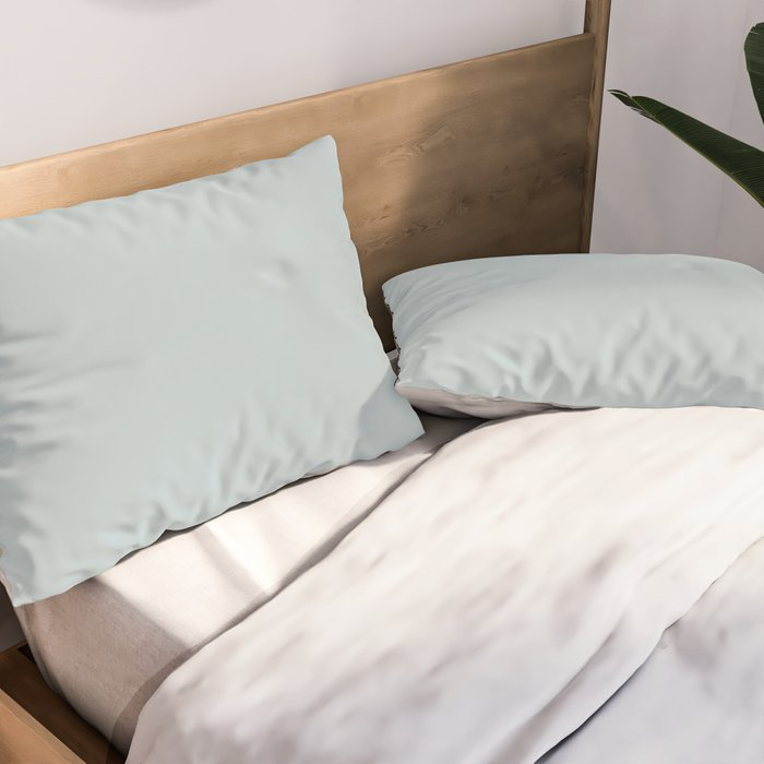Ultra Light Pastel Blue Solid Color Pairs with Sherwin Williams 2020 Forecast Colors Sleepy Blue Pillow Sham