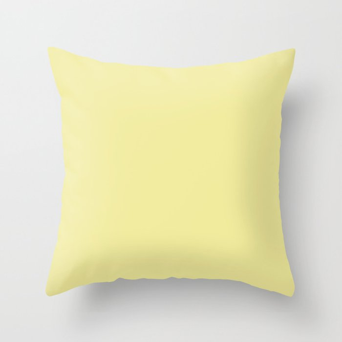 Butter Pastel Yellow Solid Color Throw Pillow Pairs 2022 Spring / Summer Key Color - Shade - Hue - Colour