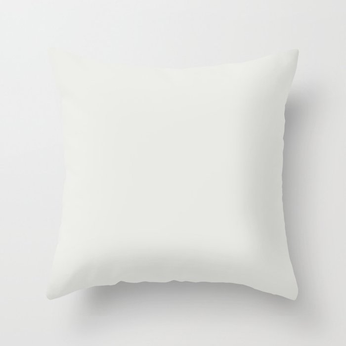 Linen White Solid Hue - 2022 Color - Shade Pairs Dunn and Edwards Swiss Meringue DEHW04 Throw Pillow