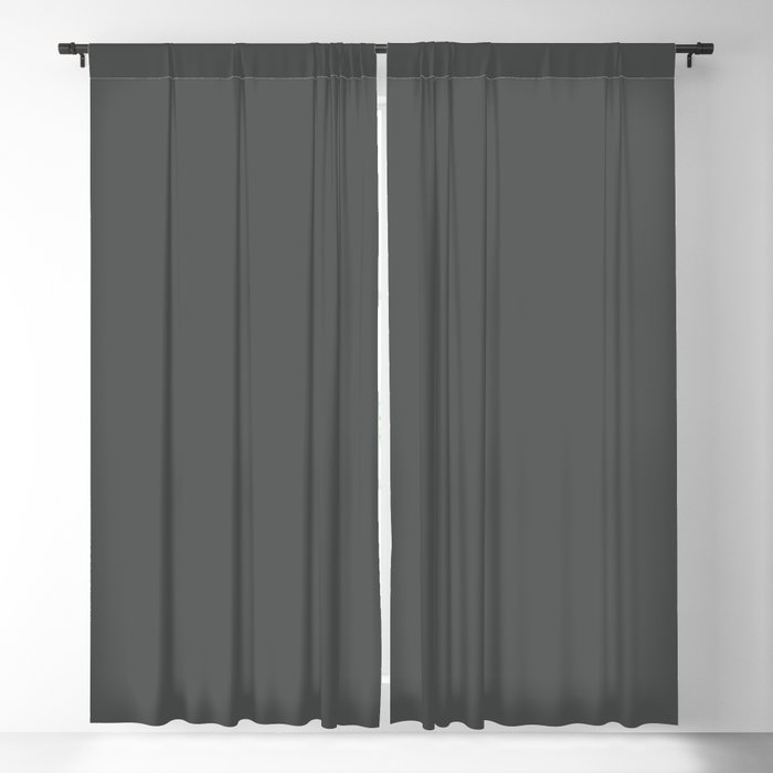 Authentic Gray Solid Color Pairs Behr 2022 Trending Hue - Shade - Cracked Pepper PPU18-01 Blackout Curtain