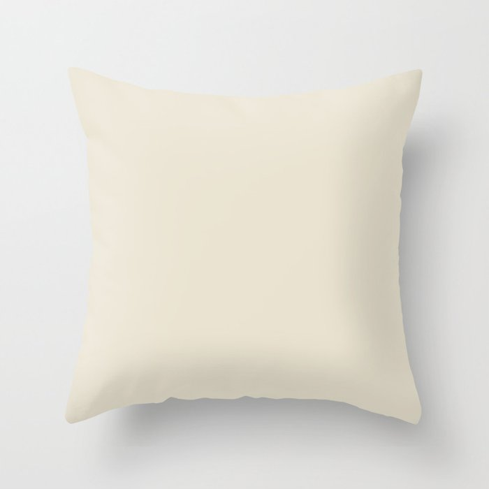 Light Cream Solid Color Throw Pillow Pairs Pantone Baby's Breath 11-0202 2022 Summer Trending Shade - Hue - Colour