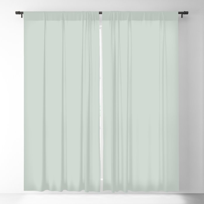 Beach Glass Pastel Green Coordinates w/ Behr 2022 Color of the Year Breezeway MQ3-21 Blackout Curtain