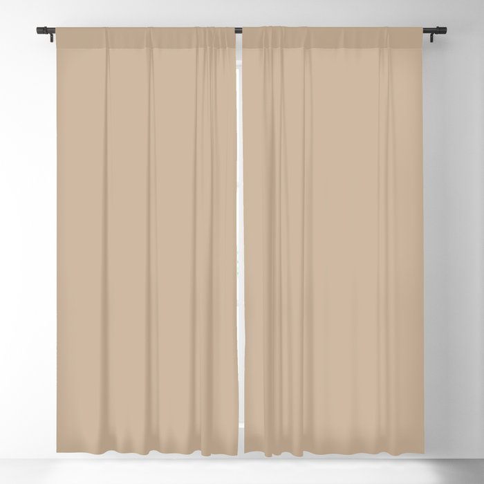 Casual Light Brown Solid Color Pairs Behr 2022 Trending Hue - Shade - Basswood MQ2-46 Blackout Curtain