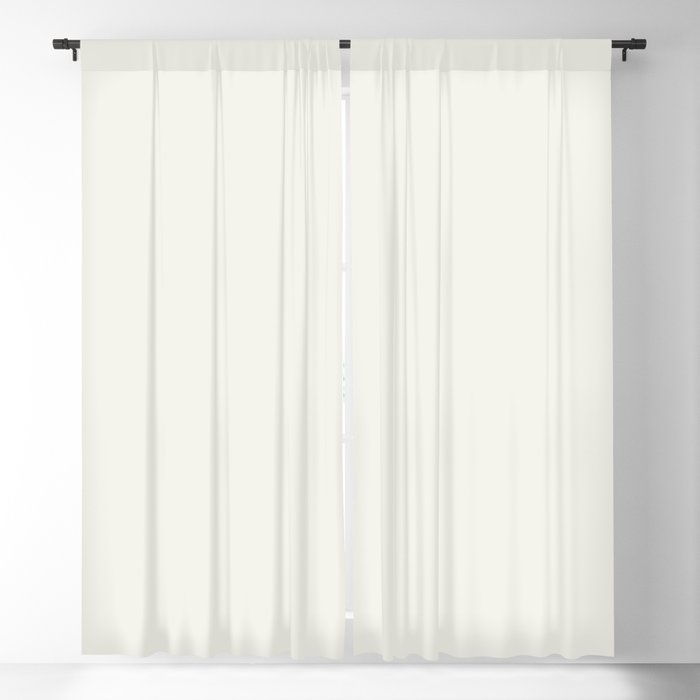Cream Off White Solid Color Pairs Behr 2022 Trending Hue - Shade - Whisper White HDC-MD-08 Blackout Curtain