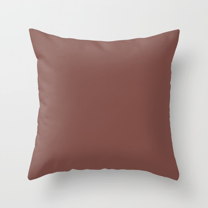 Dark Red Solid Hue - 2022 Color - Shade Pairs Dunn and Edwards Revival Red DET441 Throw Pillow