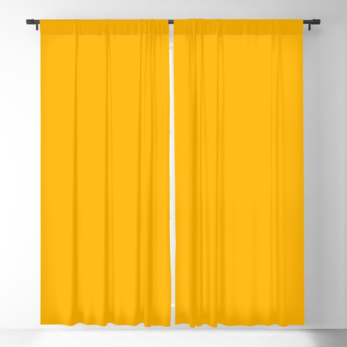Golden Yellow Solid Color 2022 Spring/Summer Trending Hue Coloro Nectar 033-74-41 Blackout Curtain