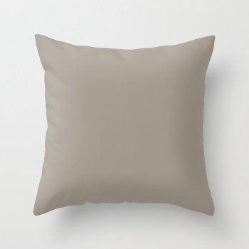 Greige Grey Solid Color - Popular Shade 2022 PPG Gray By Me PPG1008-4 Throw Pillow
