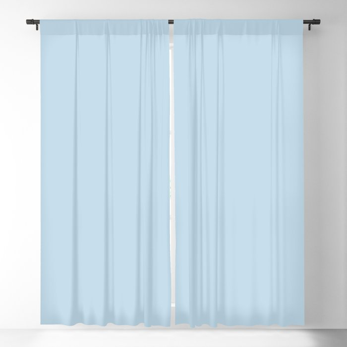 Infused Pastel Blue Solid Color Pairs Behr 2022 Trending Hue - Shade - After Rain M520-2 Blackout Curtain