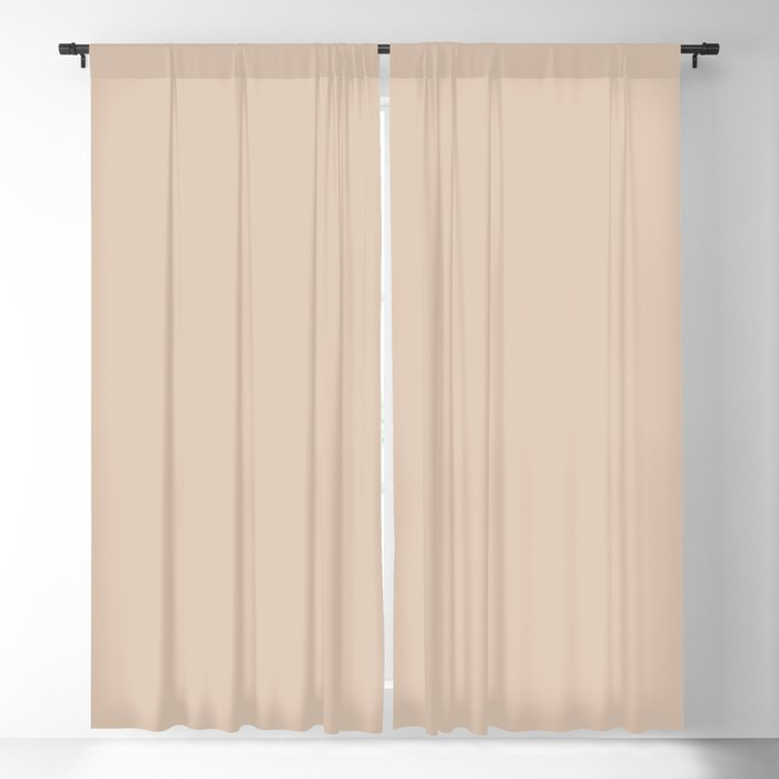 Light Tan Solid Color 2022 Trending Hue Sherwin Williams Beige SW 2859 Blackout Curtain