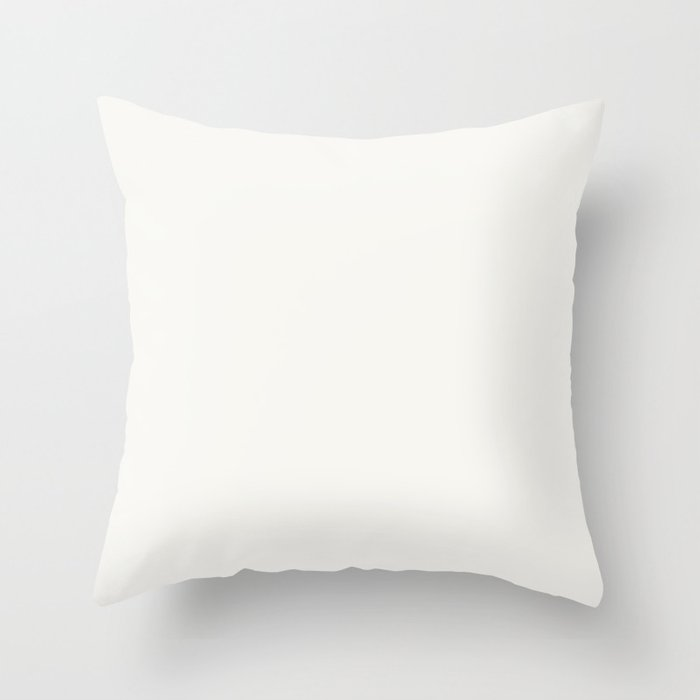 Linen White Solid Color 2022 Trending Hue Sherwin Williams High Reflective White SW 7757 Throw Pillow