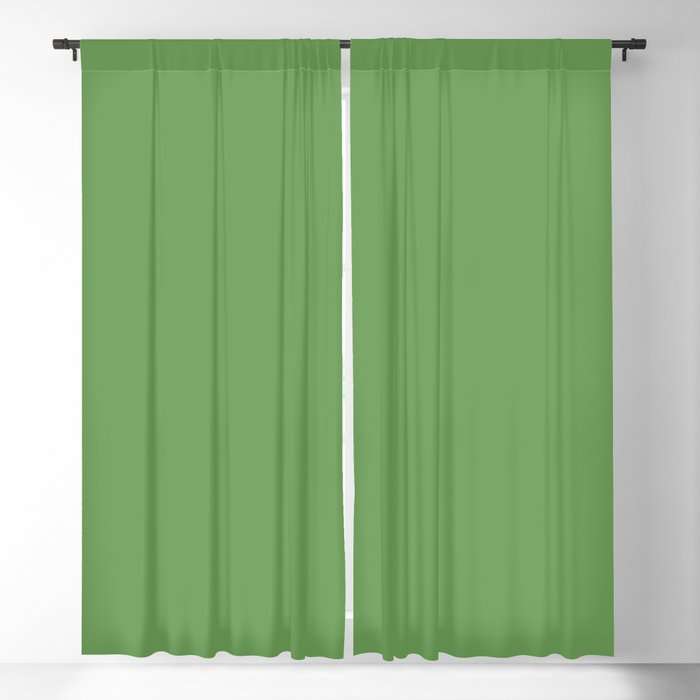 Medium Green Solid Color 2022 Spring/Summer Trending Hue Coloro Seaweed Green 062-55-25 Blackout Curtain