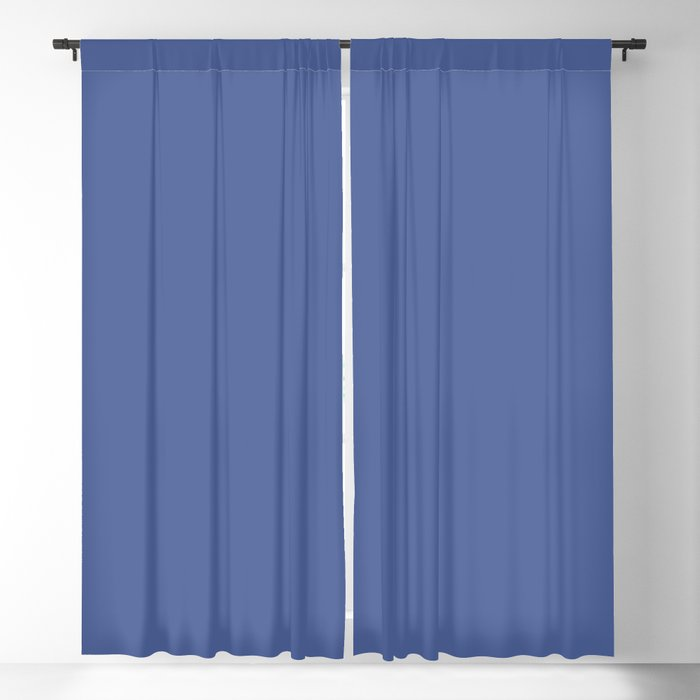 Mid-tone Blue Solid Color 2022 Spring/Summer Trending Hue Coloro Daylight Blue 123-41-23 Blackout Curtain