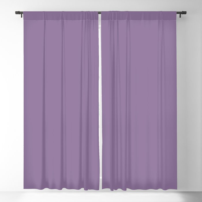 Mid-tone Purple Solid Color 2022 Spring/Summer Trending Hue Coloro Lavender Silk 138-48-19 Blackout Curtain
