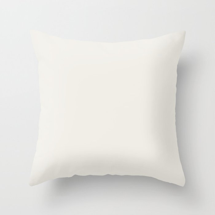 Neutral Off White Solid Color Pairs Dutch Boys 2022 Popular Hue Simplified White 020W - Artistry Throw Pillow